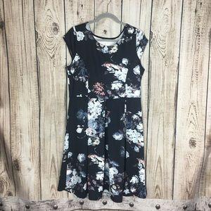 🌕4/$15🌕 Gilli Blue Floral ALine Midi Dress 1X